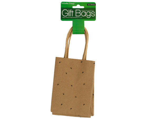 Wholesale small triangle print gift bags set bulk buys for Triangle wholesale printing
