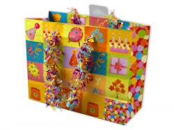 Wholesale Small Happy Birthday Giftbag With Confetti Handles