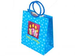 Wholesale Blue Birthday Candles Medium Gift Bag