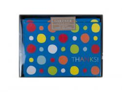 Wholesale 24 Count Multi Color Dots Thank You Card Set