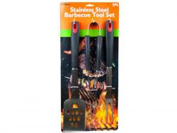 Wholesale 3 Pack Stainless Steel Barbecue Tool Set