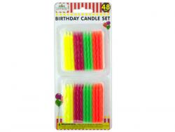 Wholesale Colored Birthday Candle Set