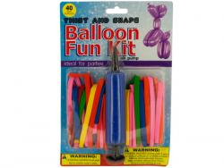 Wholesale Twist & Shape Balloon Fun Kit With Air Pump