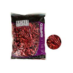 Wholesale Red Metallic Gift Shred