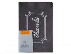 "Wholesale 10 Count Black & White ""Thanks"" Cards And Envelope Set"