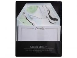 Wholesale 12 Count Green Marble Thank You Card Set