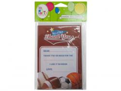 Wholesale 8 Count All Star Sports Thank You Cards