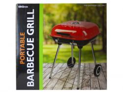 Wholesale Square Charcoal Barbecue Grill With Wheels